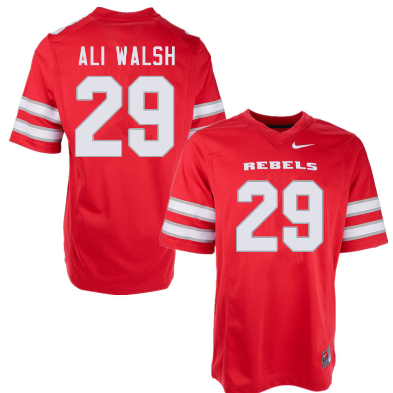 Men #29 Biaggio Ali Walsh UNLV Rebels College Football Jerseys Sale-Red