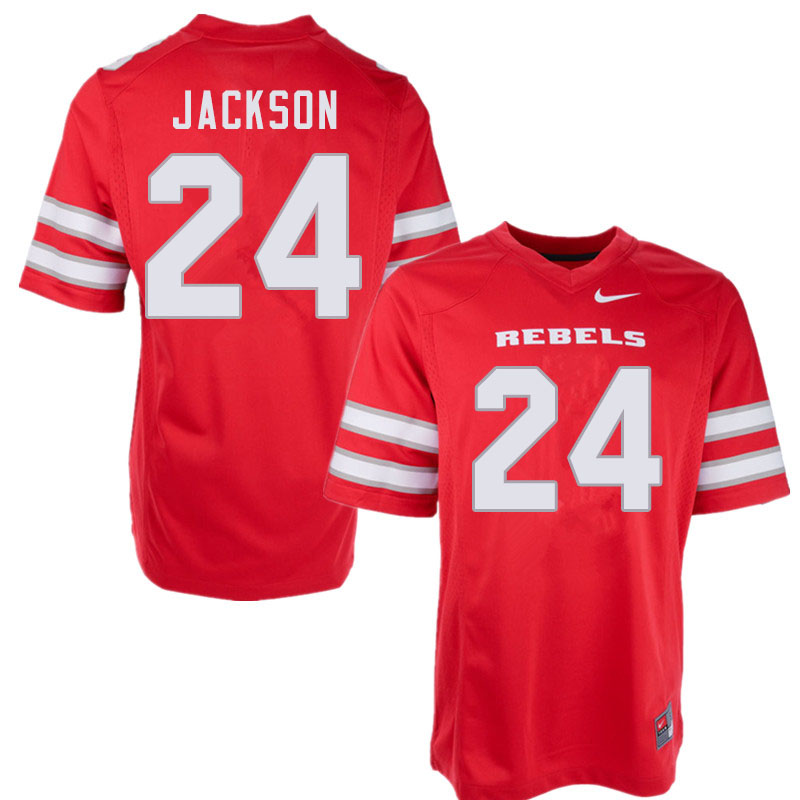 Men #24 Bryce Jackson UNLV Rebels College Football Jerseys Sale-Red