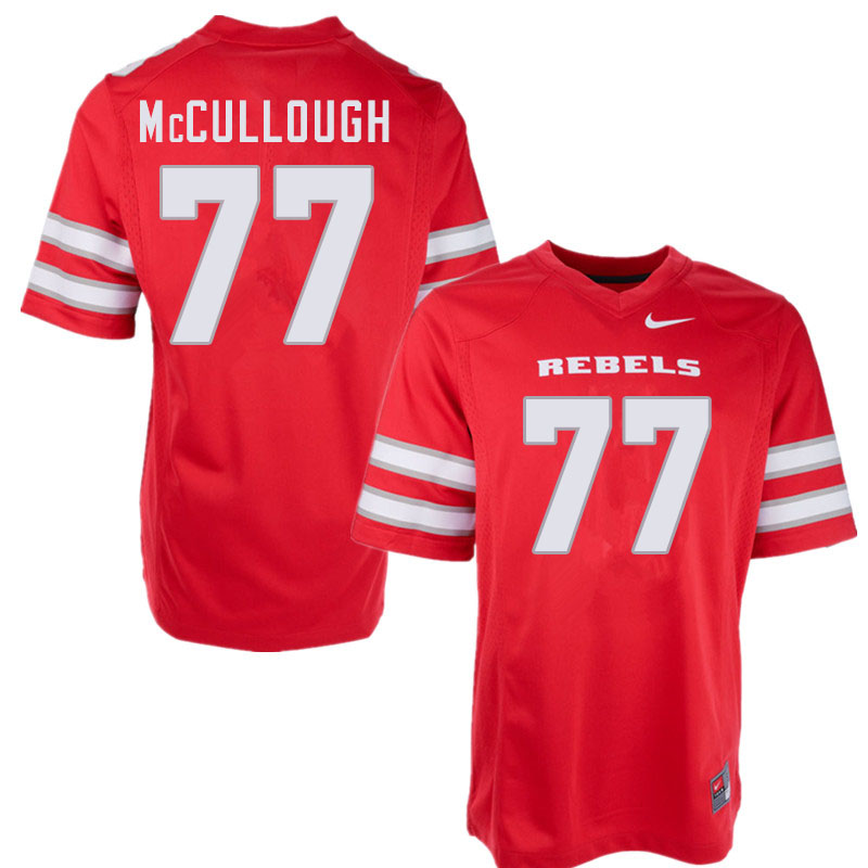 Men #77 Jackson McCullough UNLV Rebels College Football Jerseys Sale-Red
