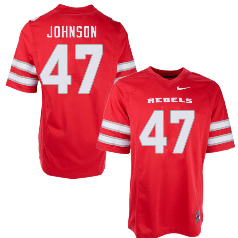 Men #47 Malcolm Johnson UNLV Rebels College Football Jerseys Sale-Red