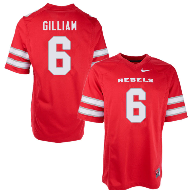 Men #6 Max Gilliam UNLV Rebels College Football Jerseys Sale-Red