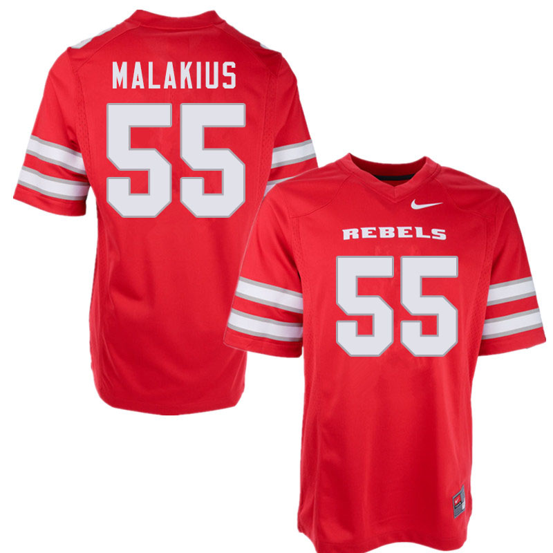 Men #55 Tavis Malakius UNLV Rebels College Football Jerseys Sale-Red
