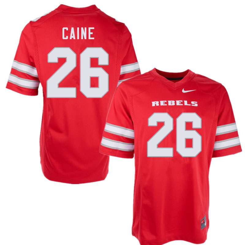Men #26 Tre Caine UNLV Rebels College Football Jerseys Sale-Red