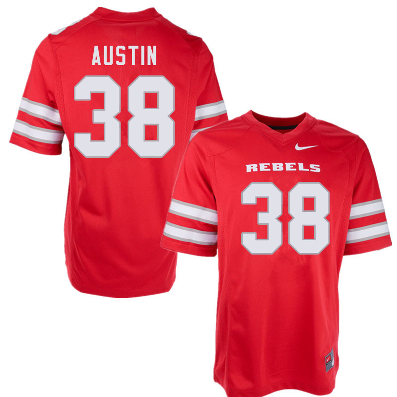 Men #38 Trey Austin UNLV Rebels College Football Jerseys Sale-Red
