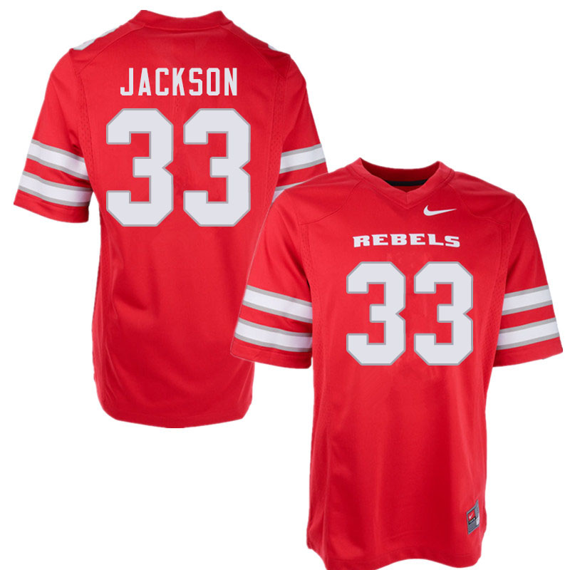 Men #33 Tyree Jackson UNLV Rebels College Football Jerseys Sale-Red