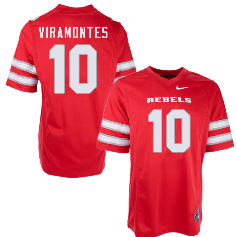 Men #10 Vic Viramontes UNLV Rebels College Football Jerseys Sale-Red
