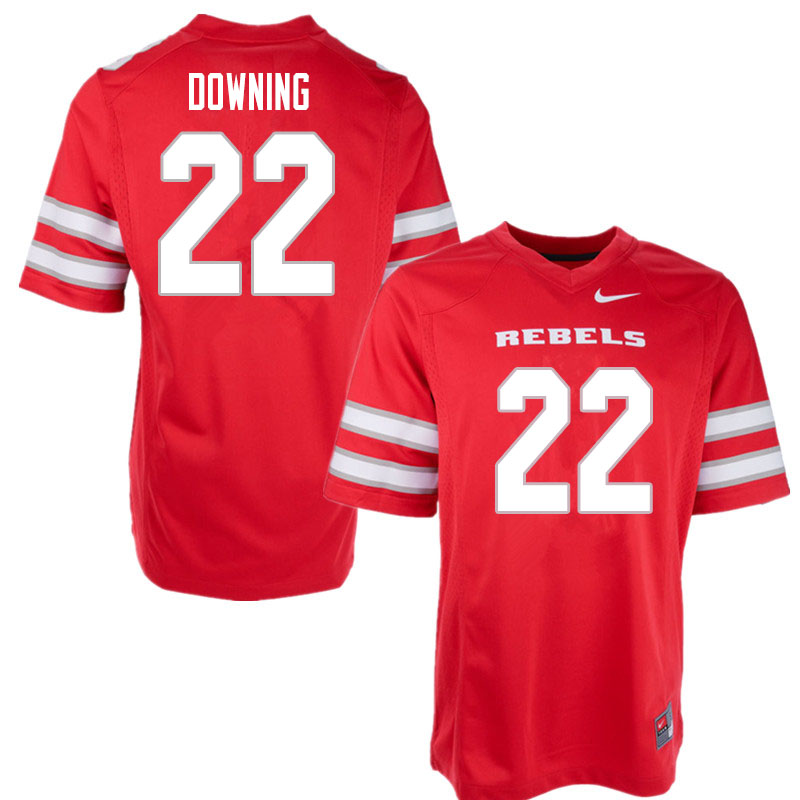 Men #22 Dylan Downing UNLV Rebels College Football Jerseys Sale-Red