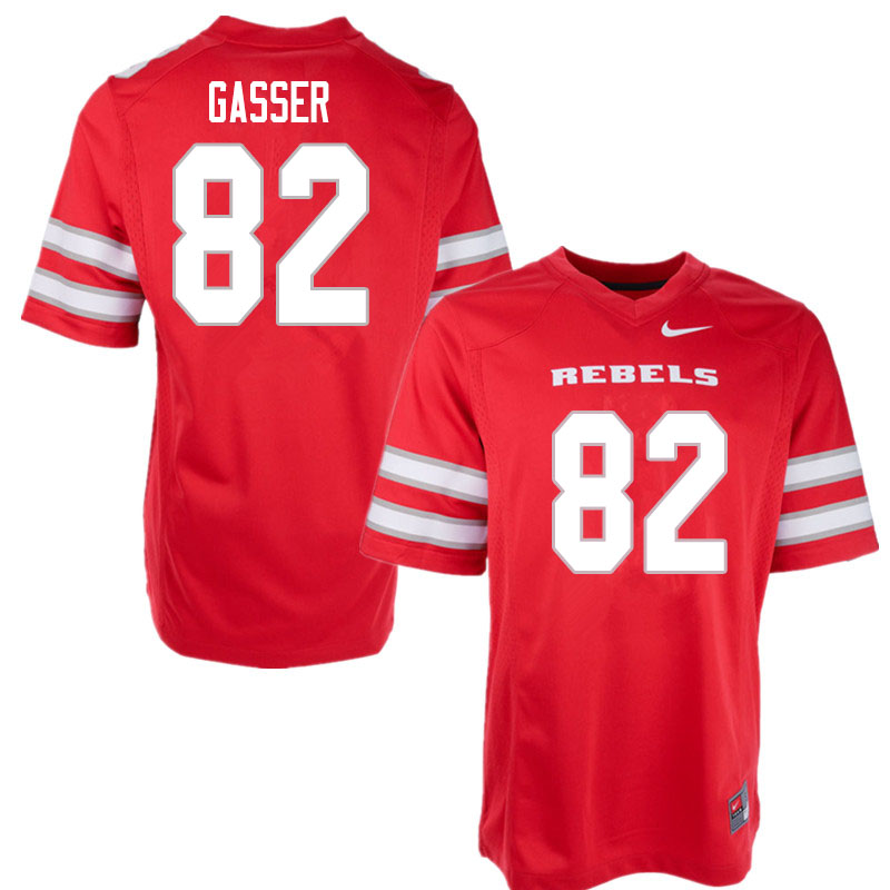 Men #82 Jacob Gasser UNLV Rebels College Football Jerseys Sale-Red