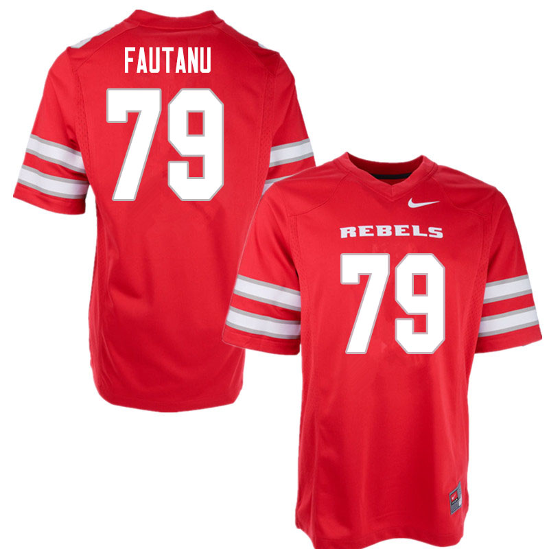 Men #79 Leif Fautanu UNLV Rebels College Football Jerseys Sale-Red