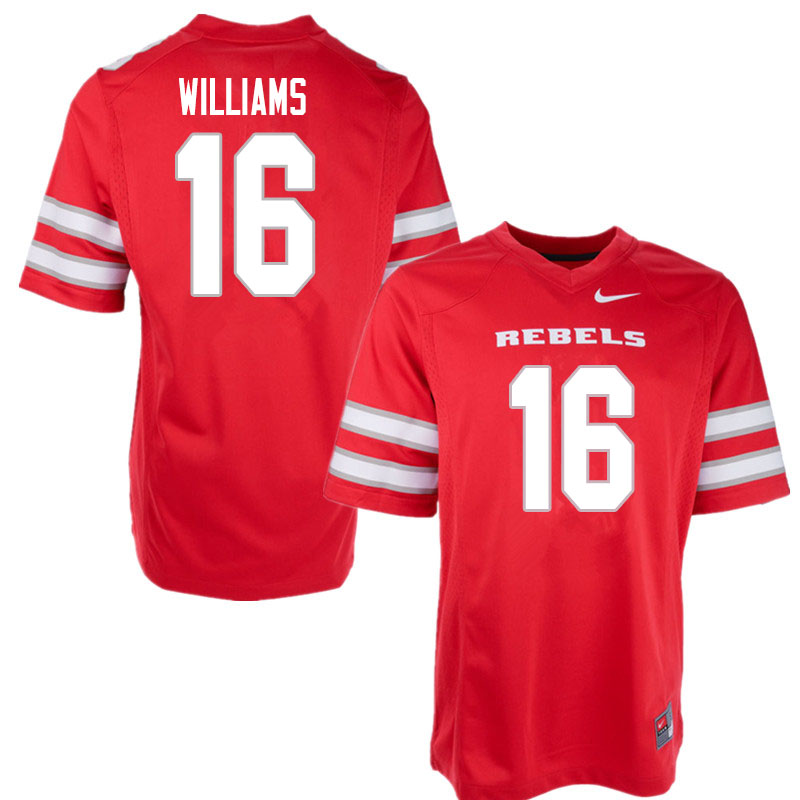 Men #16 Nohl Williams UNLV Rebels College Football Jerseys Sale-Red