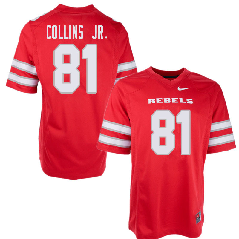 Men's UNLV Rebels #81 Andre Collins Jr. College Football Jerseys Sale-Red