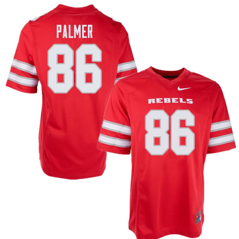 Men's UNLV Rebels #86 Darren Palmer College Football Jerseys Sale-Red