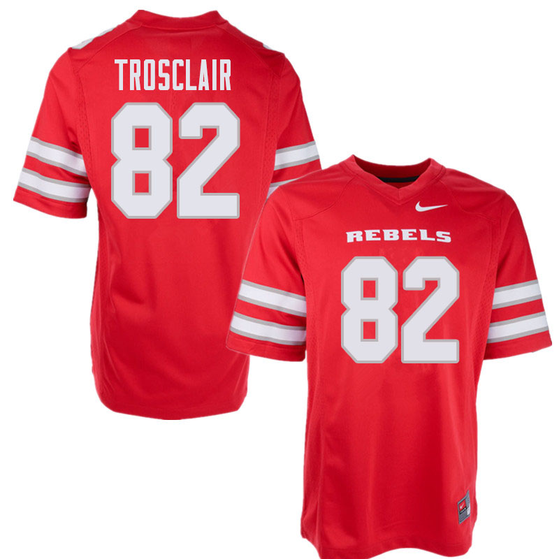 Men's UNLV Rebels #82 Elijah Trosclair College Football Jerseys Sale-Red