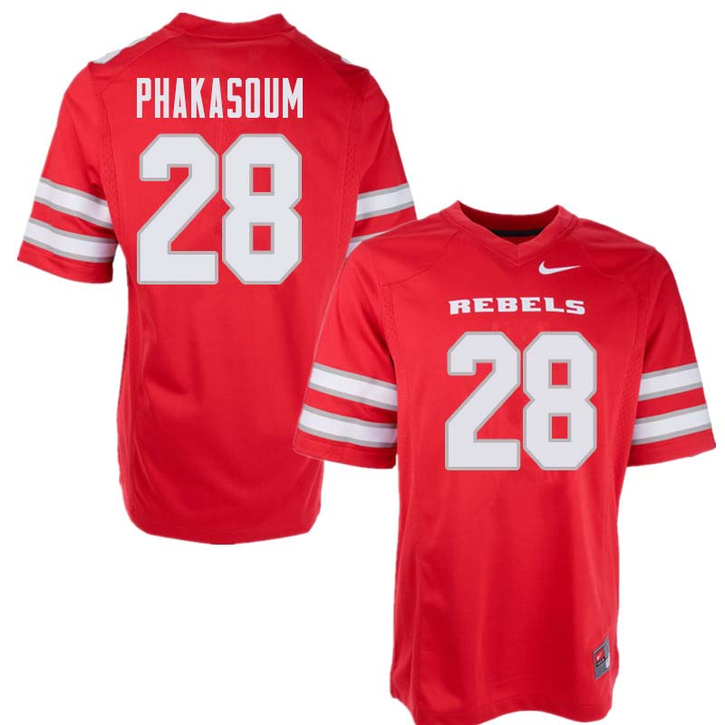 Men's UNLV Rebels #28 Feena Phakasoum College Football Jerseys Sale-Red