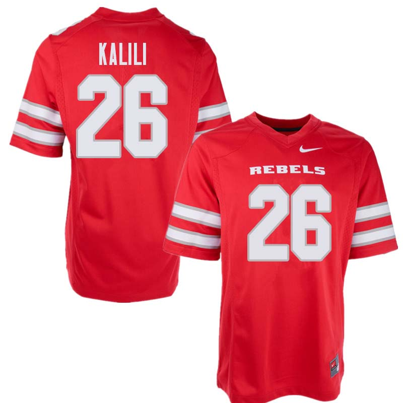 Men's UNLV Rebels #26 Jocquez Kalili College Football Jerseys Sale-Red