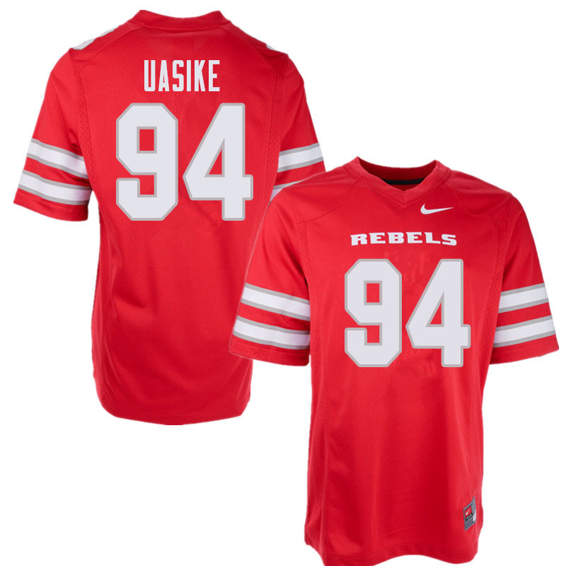 Men's UNLV Rebels #94 Kolo Uasike College Football Jerseys Sale-Red