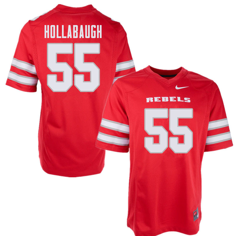 Men's UNLV Rebels #55 Kyle Hollabaugh College Football Jerseys Sale-Red