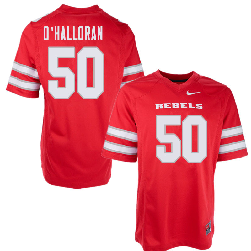 Men's UNLV Rebels #50 Kyler O'Halloran College Football Jerseys Sale-Red