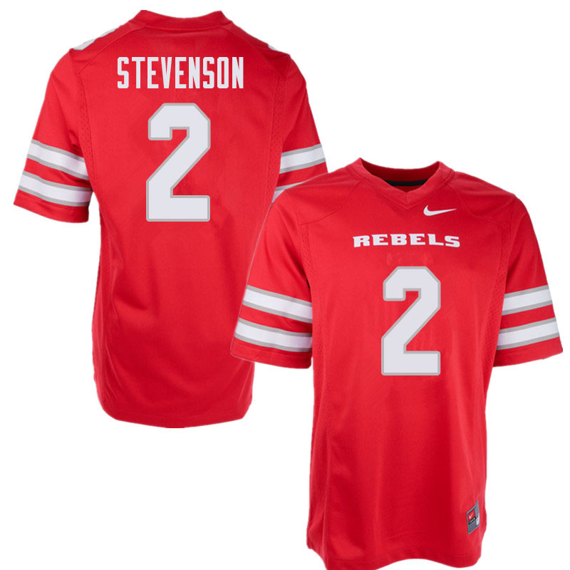Men's UNLV Rebels #2 Mekhi Stevenson College Football Jerseys Sale-Red