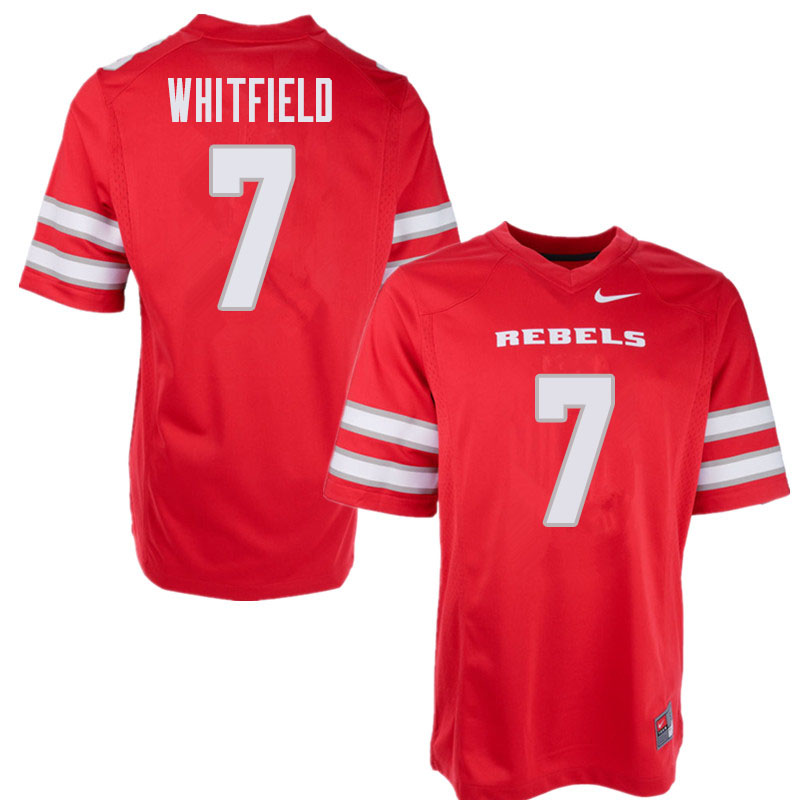 Men's UNLV Rebels #7 Reggie Whitfield College Football Jerseys Sale-Red