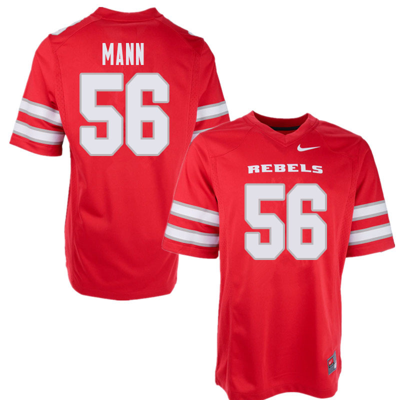 Men's UNLV Rebels #56 Roger Mann College Football Jerseys Sale-Red