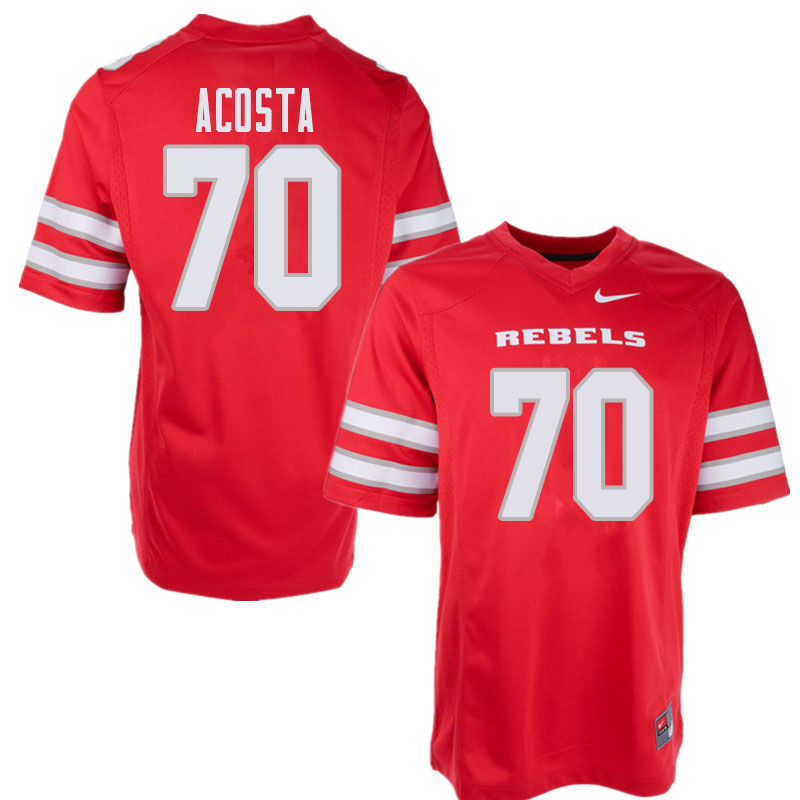 Men's UNLV Rebels #70 Sid Acosta College Football Jerseys Sale-Red