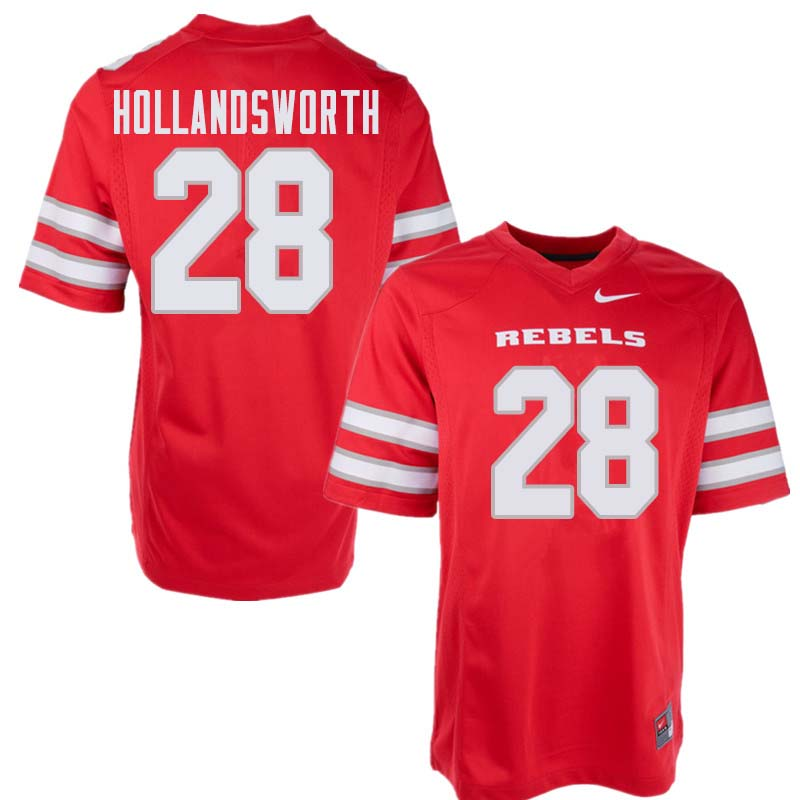 Men's UNLV Rebels #28 Tariq Hollandsworth College Football Jerseys Sale-Red
