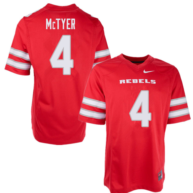 Men's UNLV Rebels #4 Torry McTyer College Football Jerseys Sale-Red