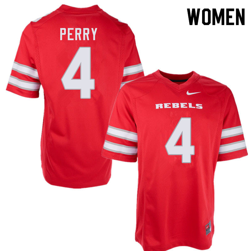 Women #4 Alex Perry UNLV Rebels College Football Jerseys Sale-Red