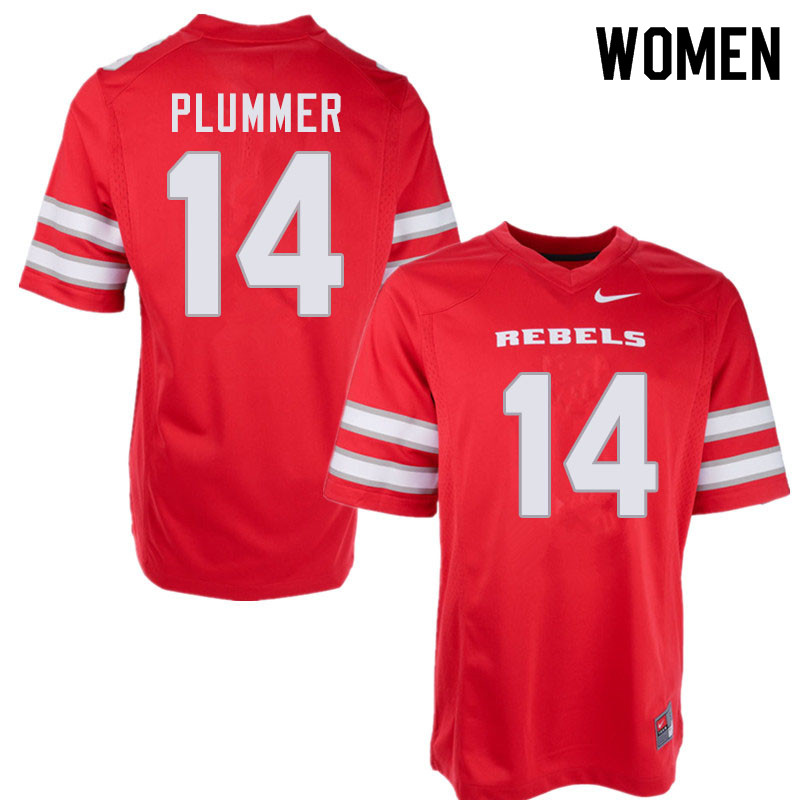 Women #14 Myles Plummer UNLV Rebels College Football Jerseys Sale-Red