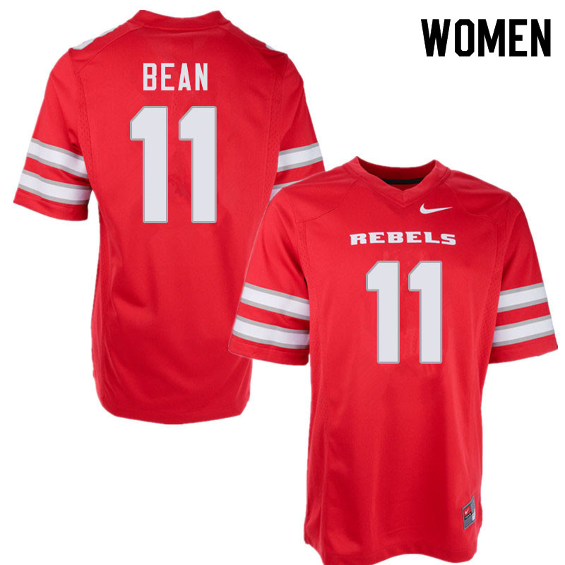 Women #11 Noah Bean UNLV Rebels College Football Jerseys Sale-Red