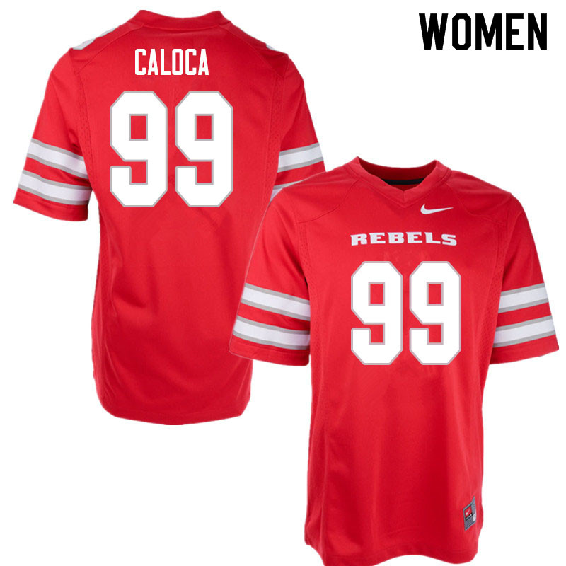 Women #99 Daniel Caloca UNLV Rebels College Football Jerseys Sale-Red