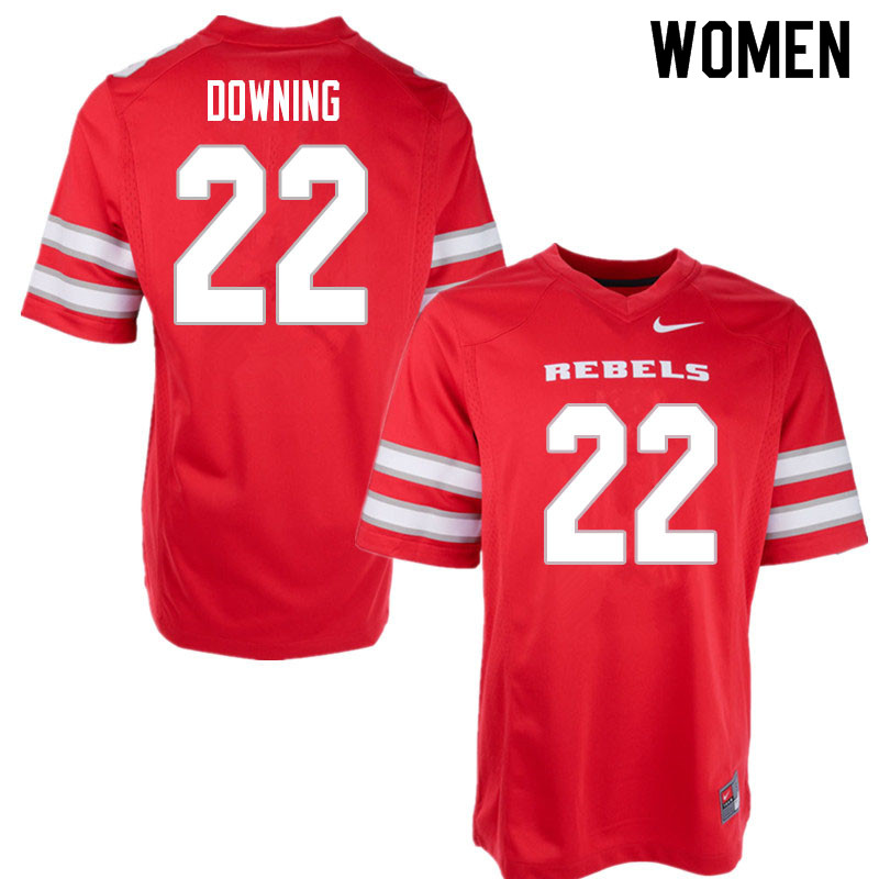 Women #22 Dylan Downing UNLV Rebels College Football Jerseys Sale-Red