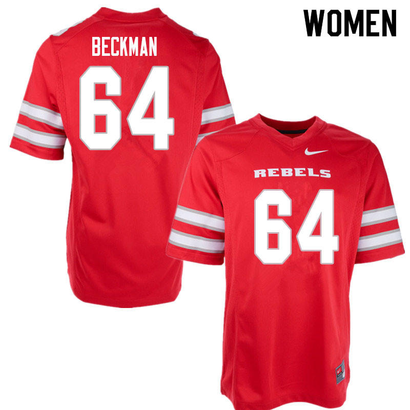 Women #64 Garrett Beckman UNLV Rebels College Football Jerseys Sale-Red