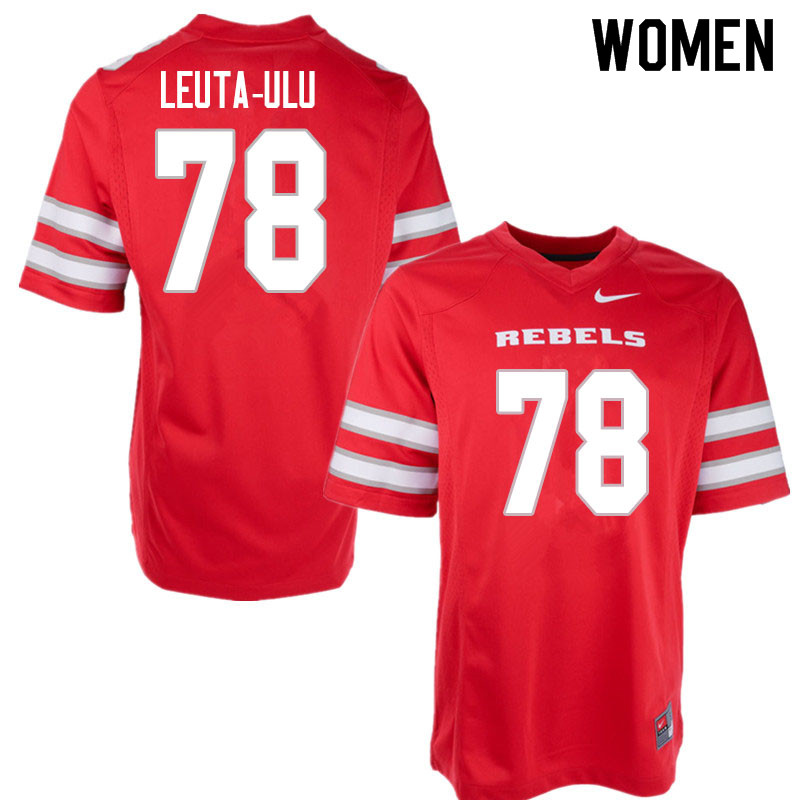 Women #78 Jeminai Leuta-Ulu UNLV Rebels College Football Jerseys Sale-Red