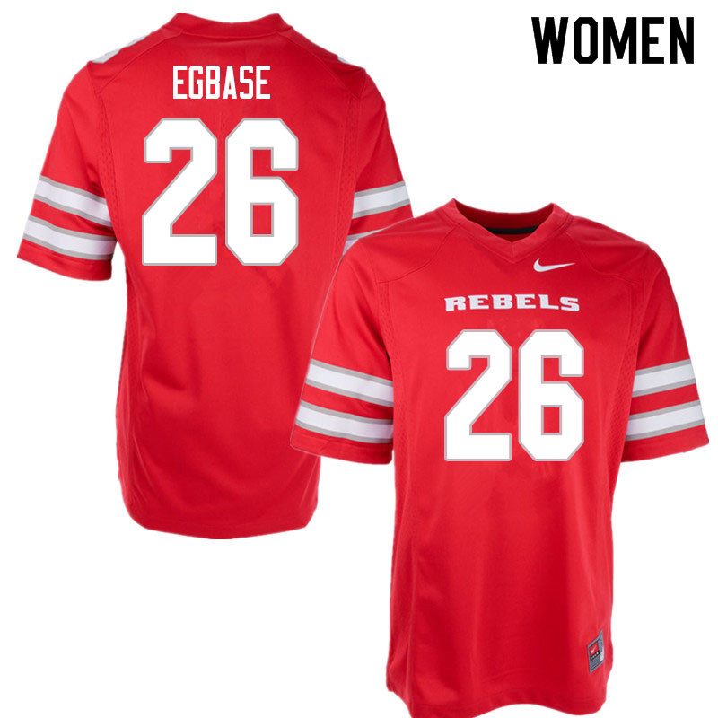 Women #26 Ose Egbase UNLV Rebels College Football Jerseys Sale-Red