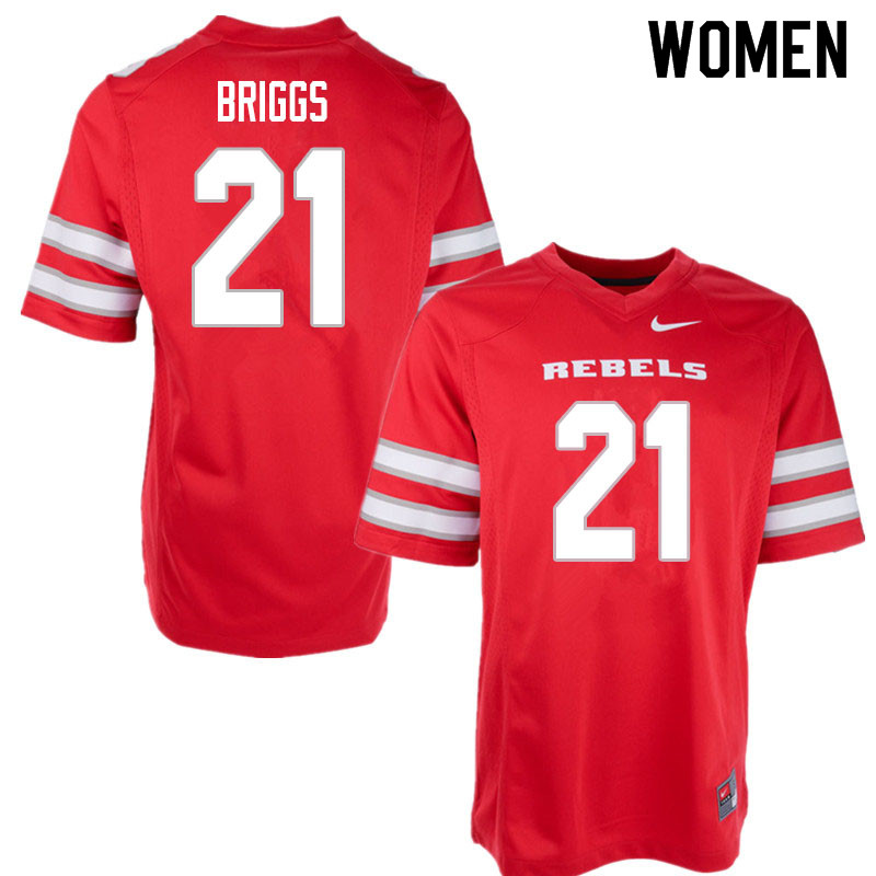 Women #21 Spencer Briggs UNLV Rebels College Football Jerseys Sale-Red