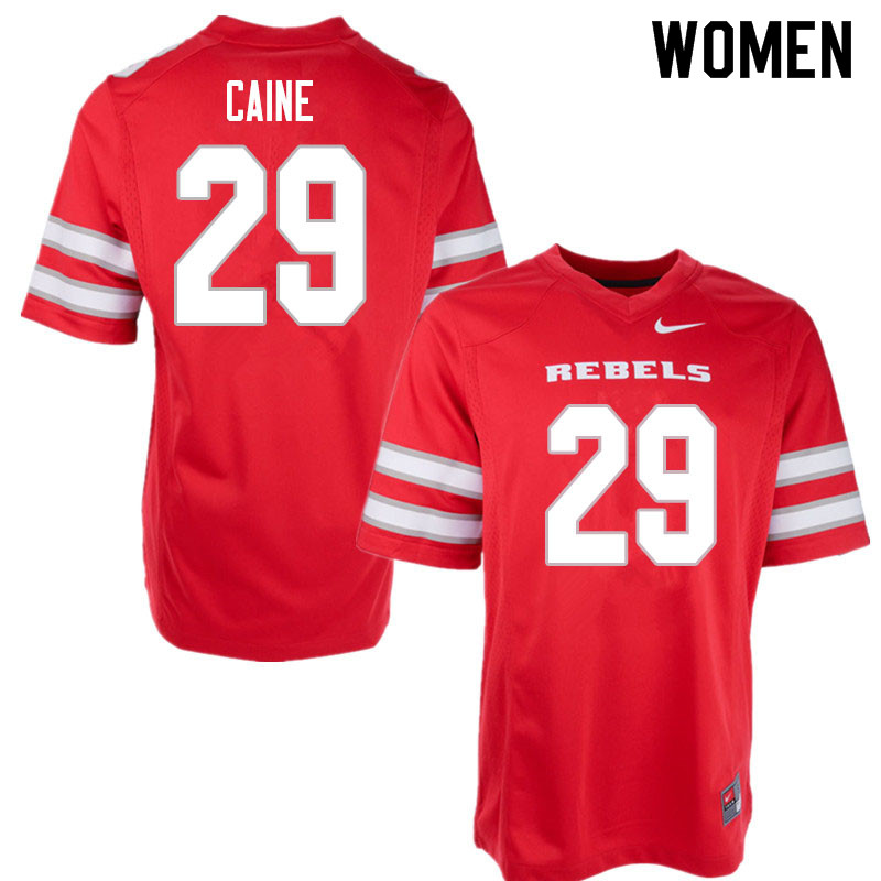 Women #29 Tre Caine UNLV Rebels College Football Jerseys Sale-Red