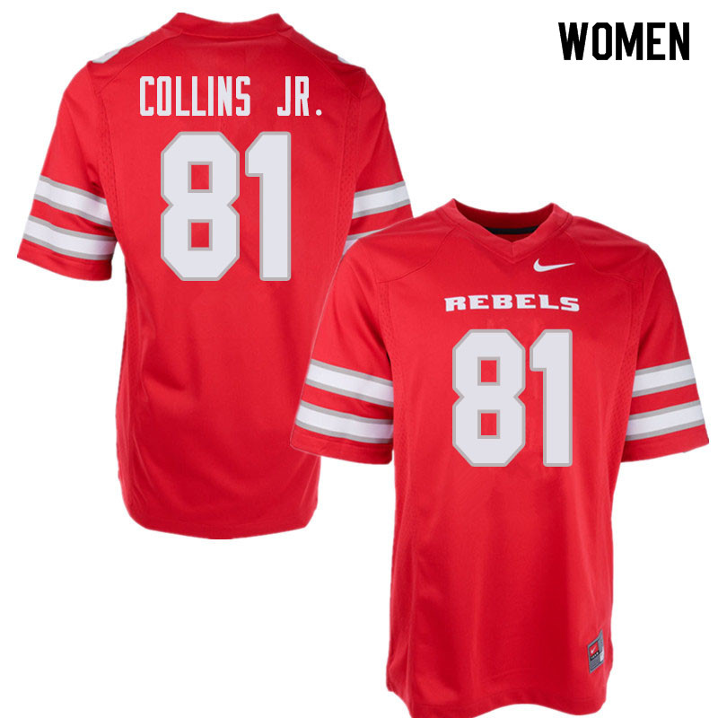 Women's UNLV Rebels #81 Andre Collins Jr. College Football Jerseys Sale-Red