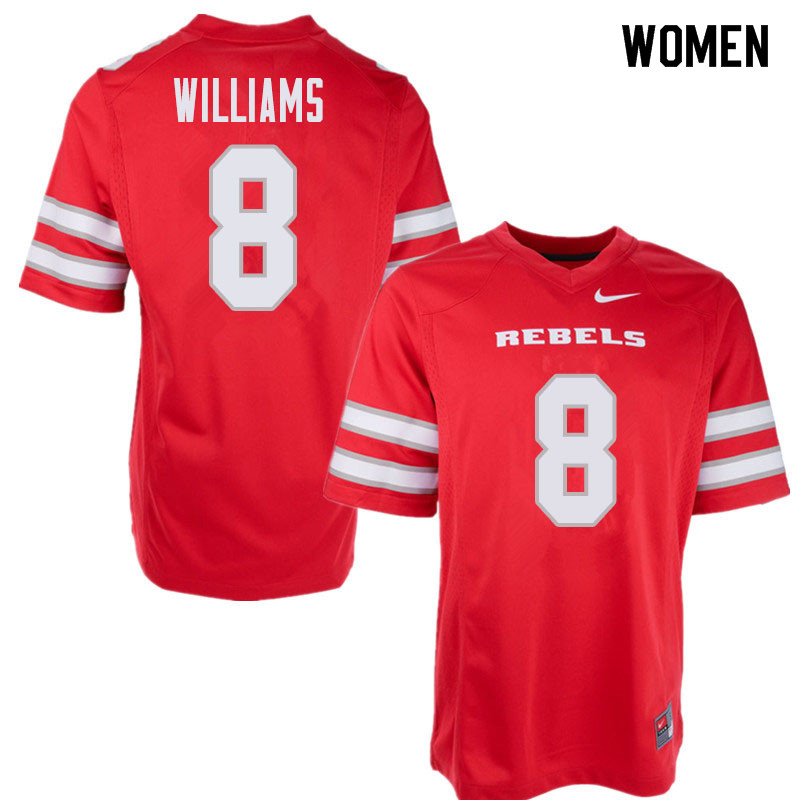 Women's UNLV Rebels #8 Charles Williams College Football Jerseys Sale-Red