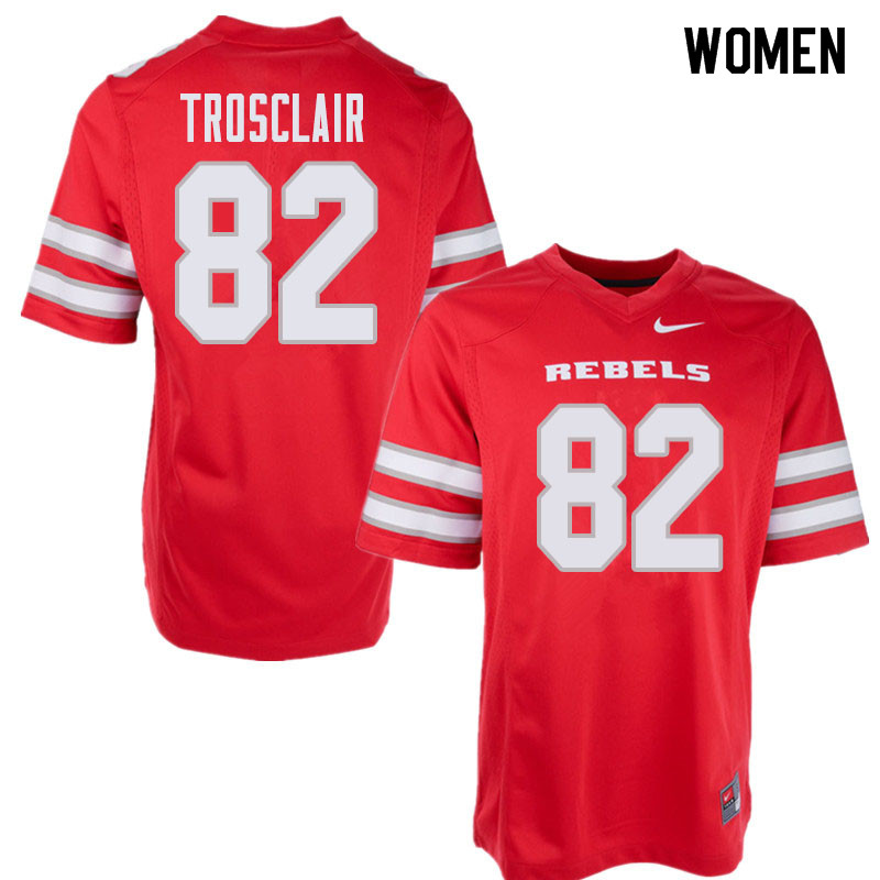 Women's UNLV Rebels #82 Elijah Trosclair College Football Jerseys Sale-Red
