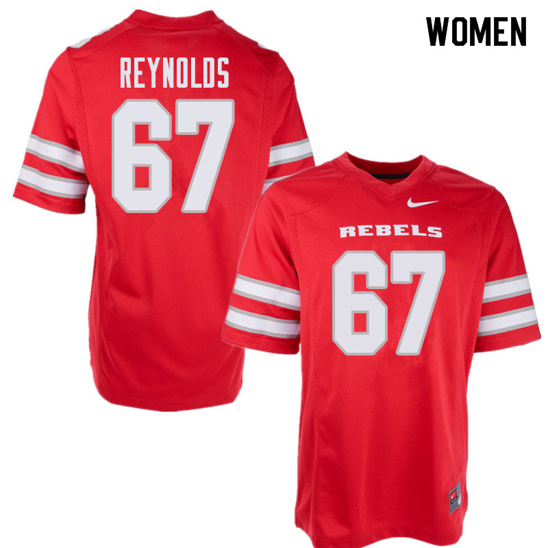 Women's UNLV Rebels #67 Jackson Reynolds College Football Jerseys Sale-Red