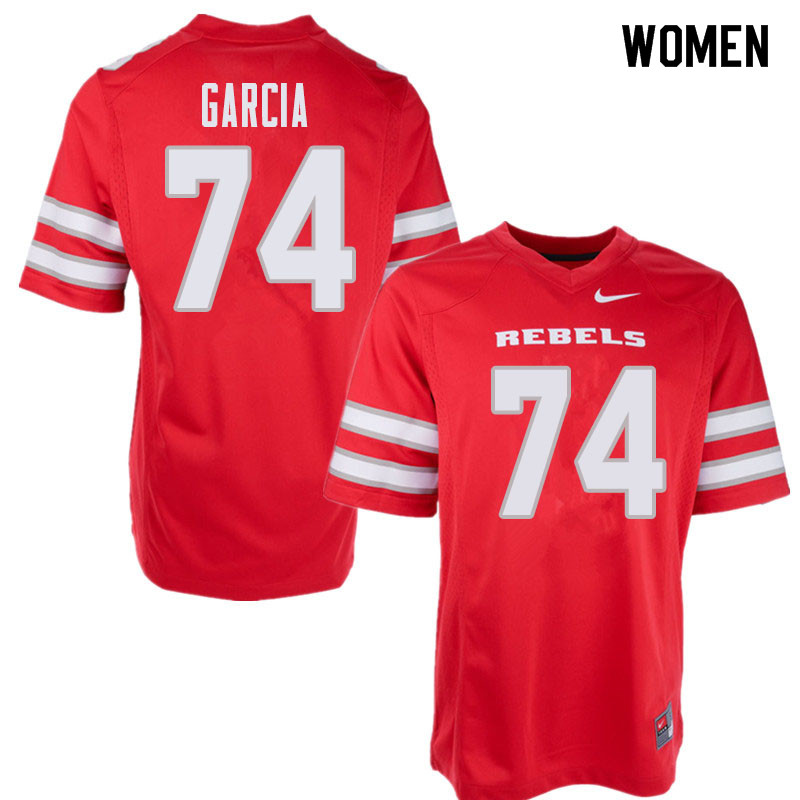 Women's UNLV Rebels #74 Julio Garcia College Football Jerseys Sale-Red