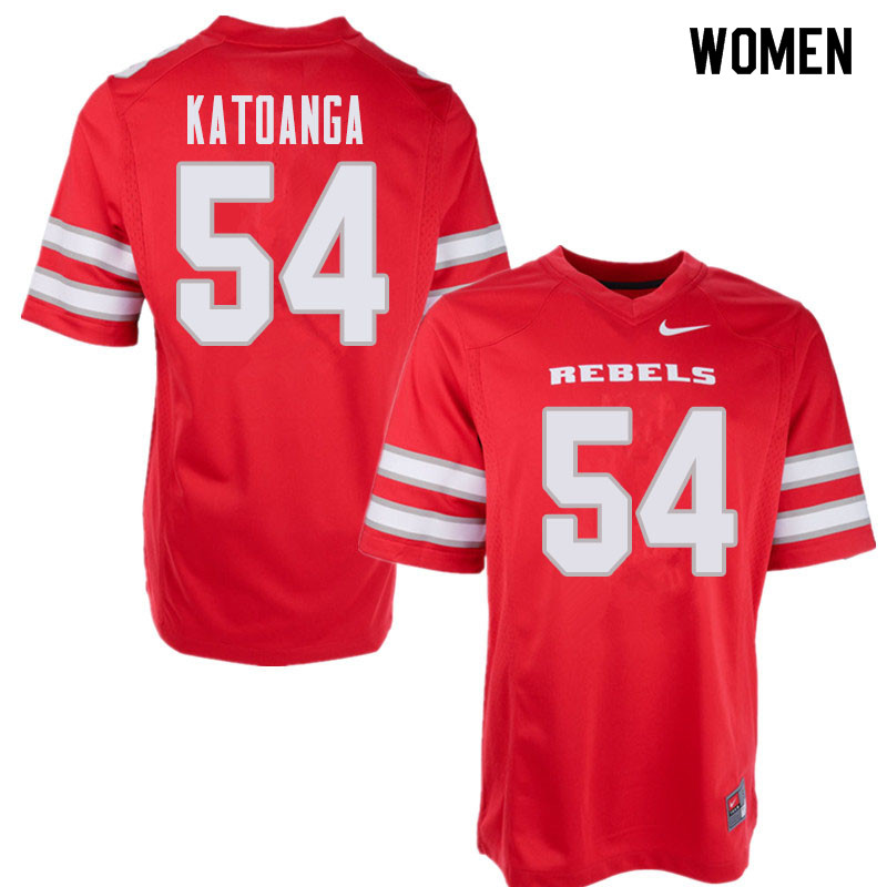 Women's UNLV Rebels #54 Spencer Katoanga College Football Jerseys Sale-Red
