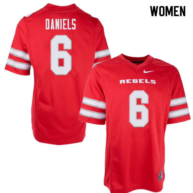 Women's UNLV Rebels #6 Tykenzie Daniels College Football Jerseys Sale-Red