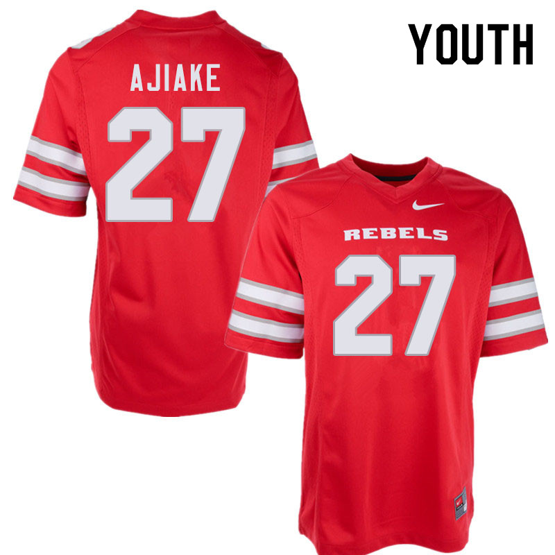Youth #27 Austin Ajiake UNLV Rebels College Football Jerseys Sale-Red