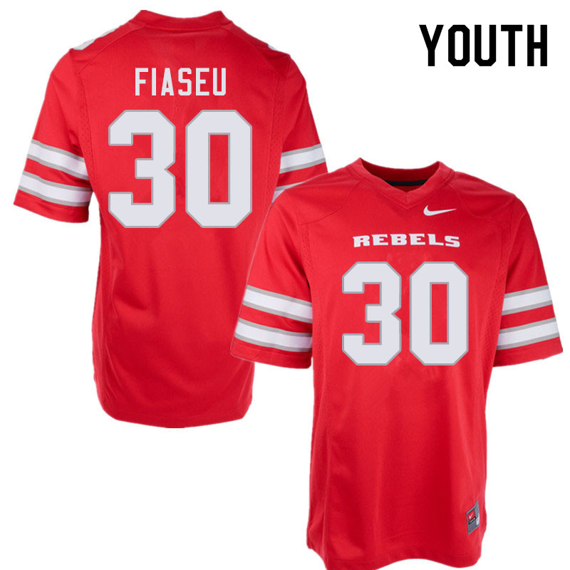 Youth #30 Austin Fiaseu UNLV Rebels College Football Jerseys Sale-Red