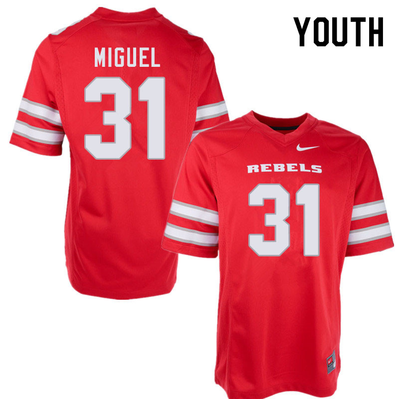 Youth #31 Avery Miguel UNLV Rebels College Football Jerseys Sale-Red