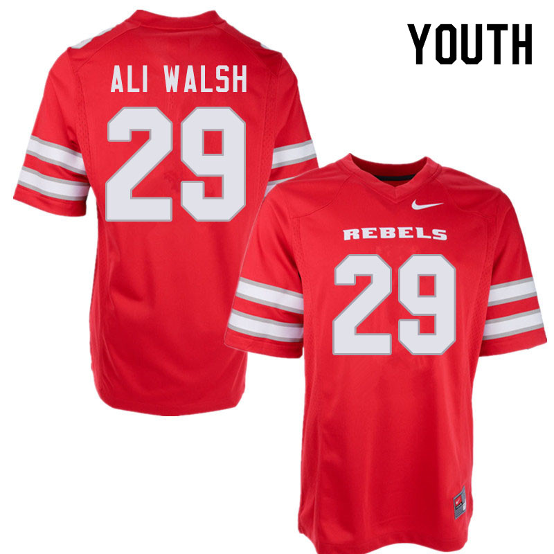 Youth #29 Biaggio Ali Walsh UNLV Rebels College Football Jerseys Sale-Red