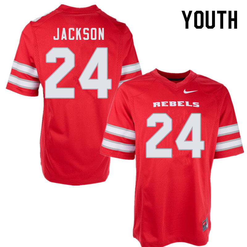 Youth #24 Bryce Jackson UNLV Rebels College Football Jerseys Sale-Red